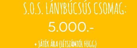 lanybucsus sos csomag ar